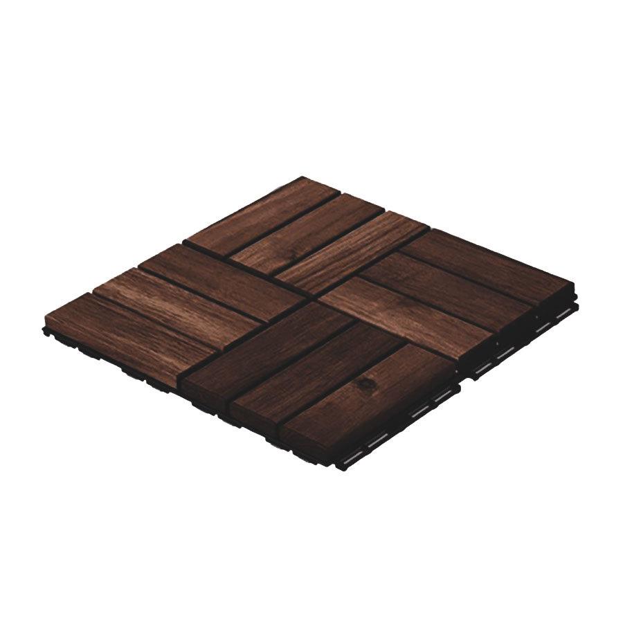 Dřevěná podlahová dlaždice - délka 30 cm, šířka 30 cm a výška 2 cm