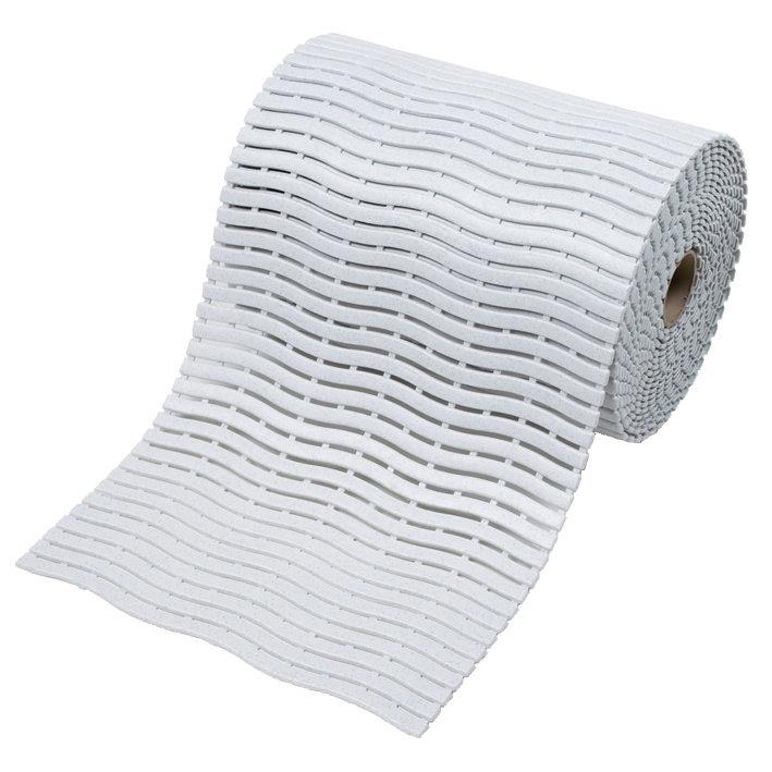 Bílá bazénová metrážová rohož Soft-Step - délka 1 cm, šířka 60 cm a výška 0,9 cm