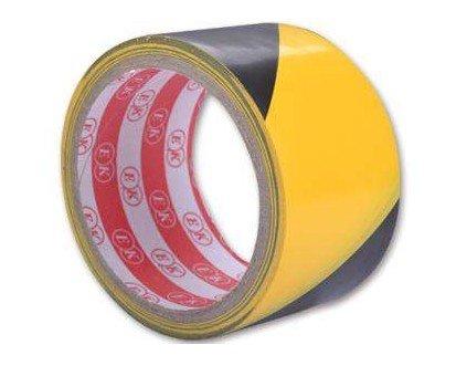Černo-žlutá vytyčovací lepící výstražná páska - délka 25 m a šířka 4,4 cm