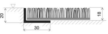 Hnědá plastová vstupní univerzální čistící metrážová rohož Astra, FLOMA - šířka 91 cm a výška 1,8 cm