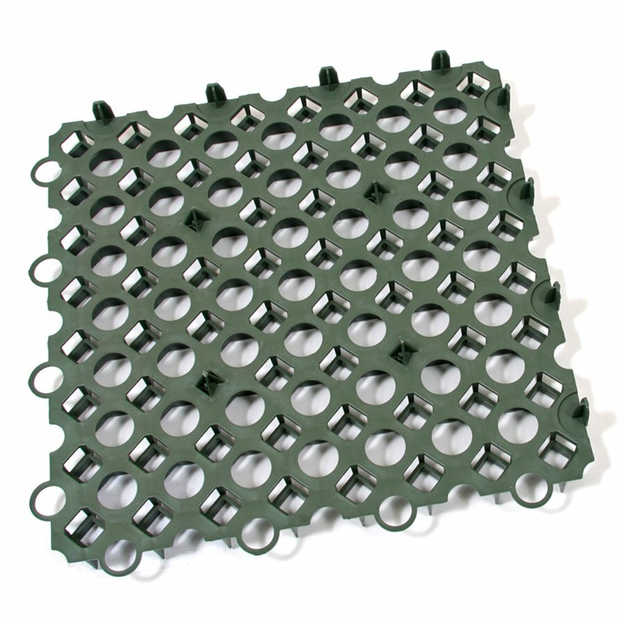 Zelená plastová zatravňovací dlažba FLOMA Stella Green - délka 50 cm, šířka 50 cm a výška 4 cm