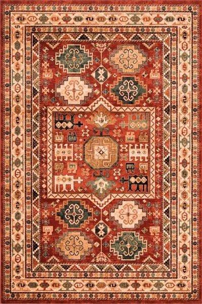 Červený orientální kusový koberec Kashqai - délka 300 cm a šířka 200 cm