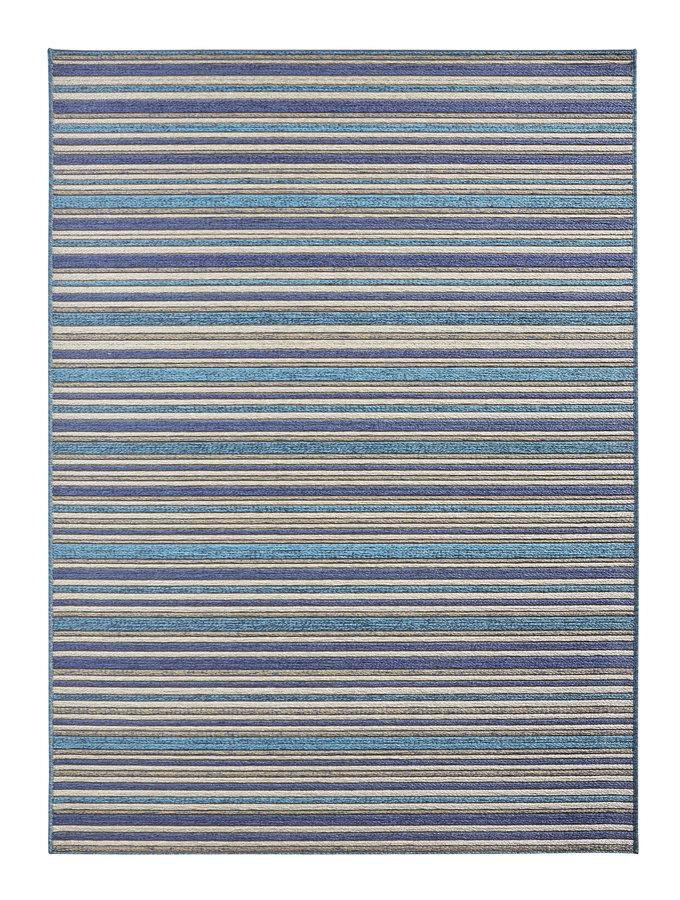 Modrý kusový koberec Lotus