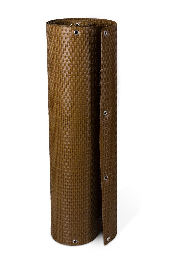 """Plastová ratanová stínící rohož """"umělý ratan"""" s oky (světlý ořech) - délka 300 cm a výška 75 cm"""