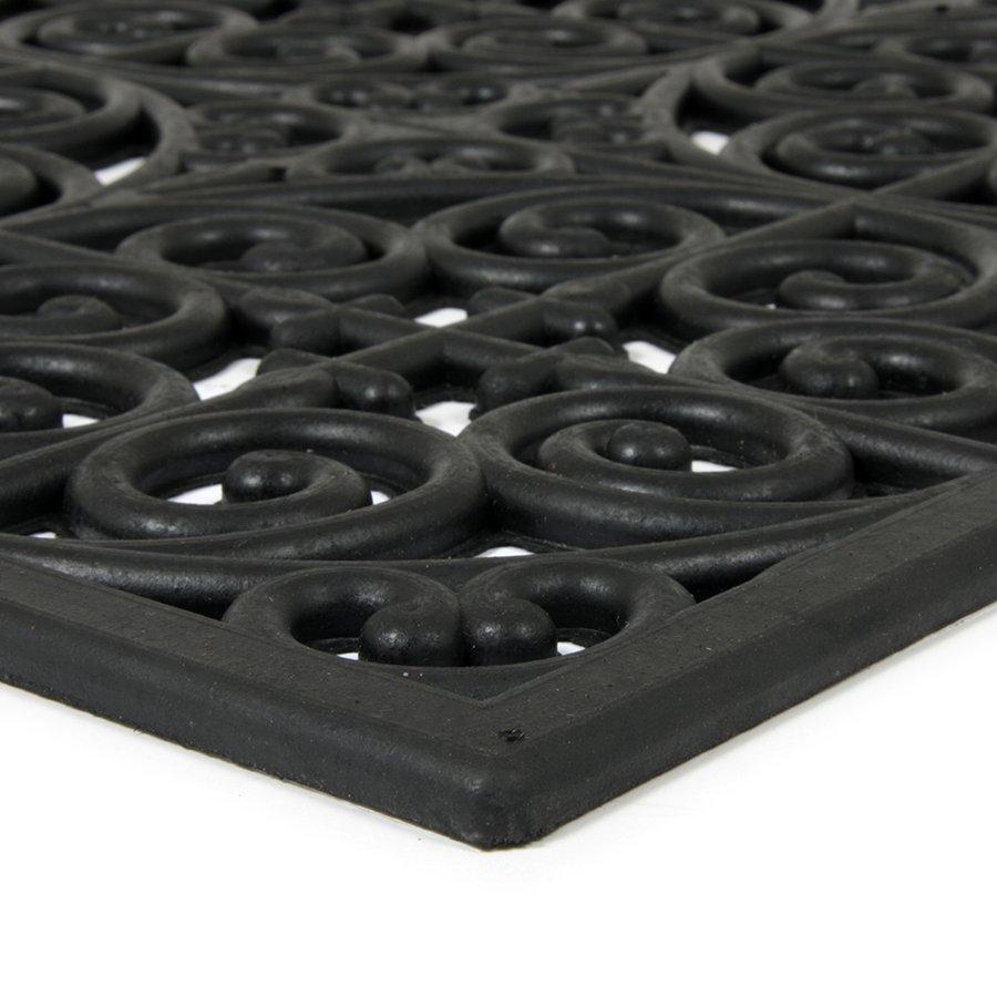 Gumová čistící venkovní vstupní rohož Circles - Deco, FLOMA - délka 45 cm, šířka 120 cm a výška 0,9 cm
