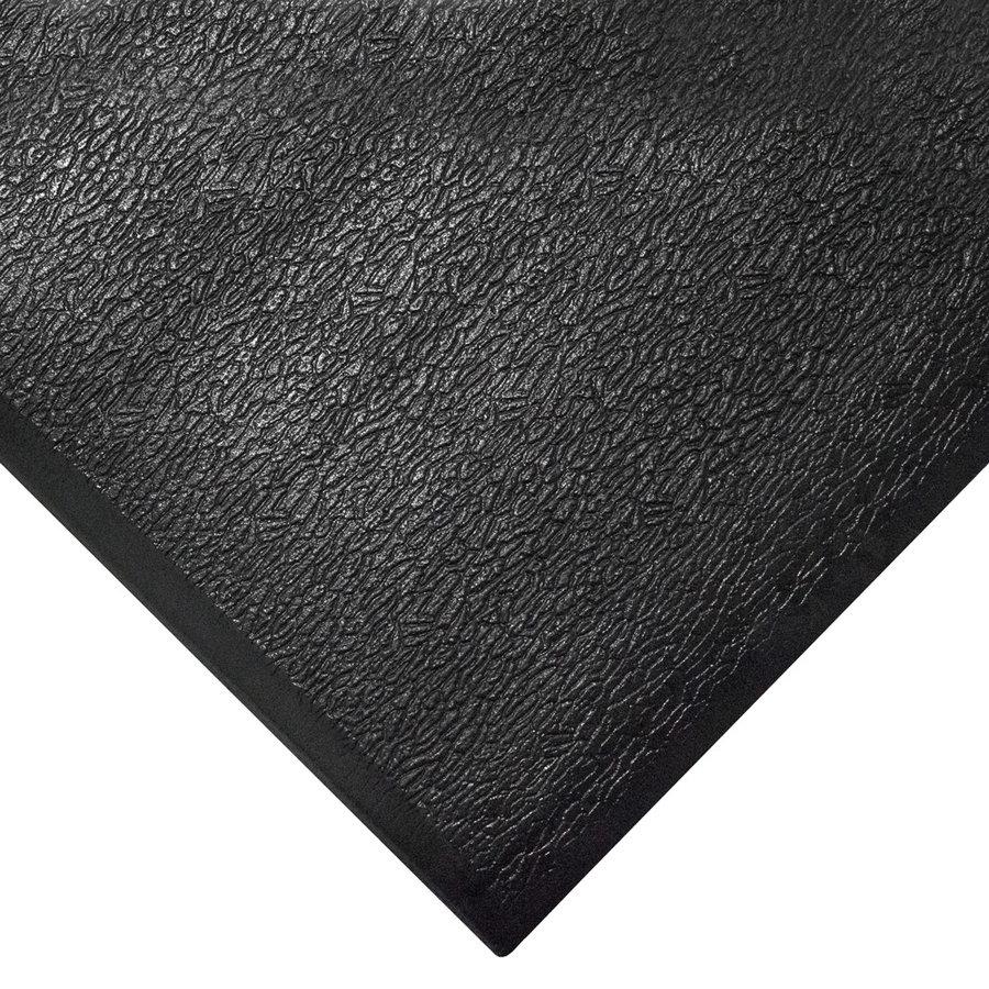 Černá gumová protiúnavová průmyslová rohož - výška 1,25 cm
