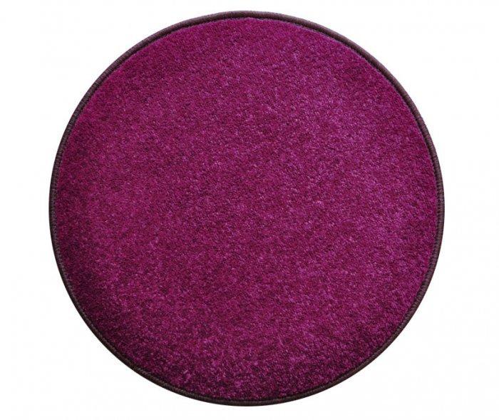 Fialový kusový kulatý koberec Eton
