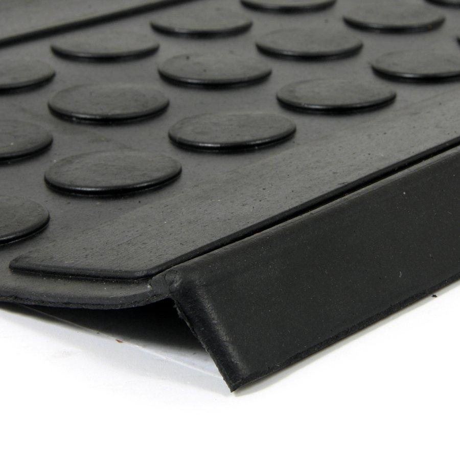 Gumový nášlap na schody Coins, FLOMA - délka 25 cm, šířka 75 cm a výška 0,5 cm