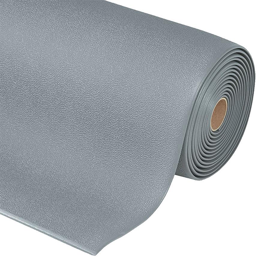 Šedá ESD protiskluzová rohož Cushion Stat - šířka 91 cm a výška 0,94 cm