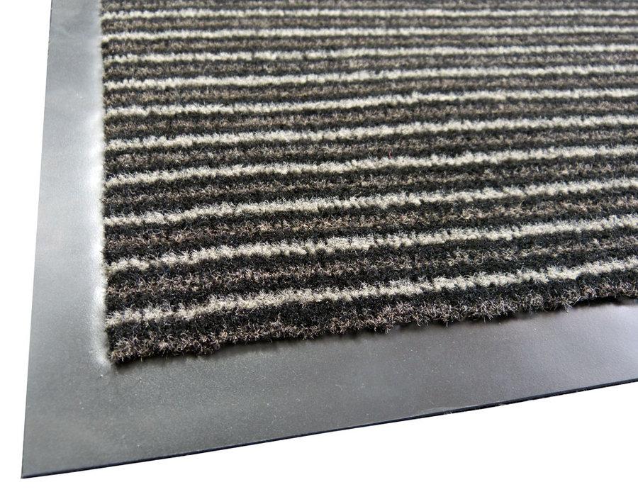 Černá textilní vstupní vnitřní čistící rohož Nova - délka 60 cm, šířka 80 cm a výška 0,7 cm