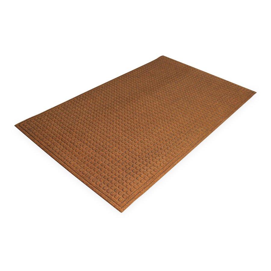 Hnědá plastová čistící vnitřní vstupní rohož - výška 1 cm