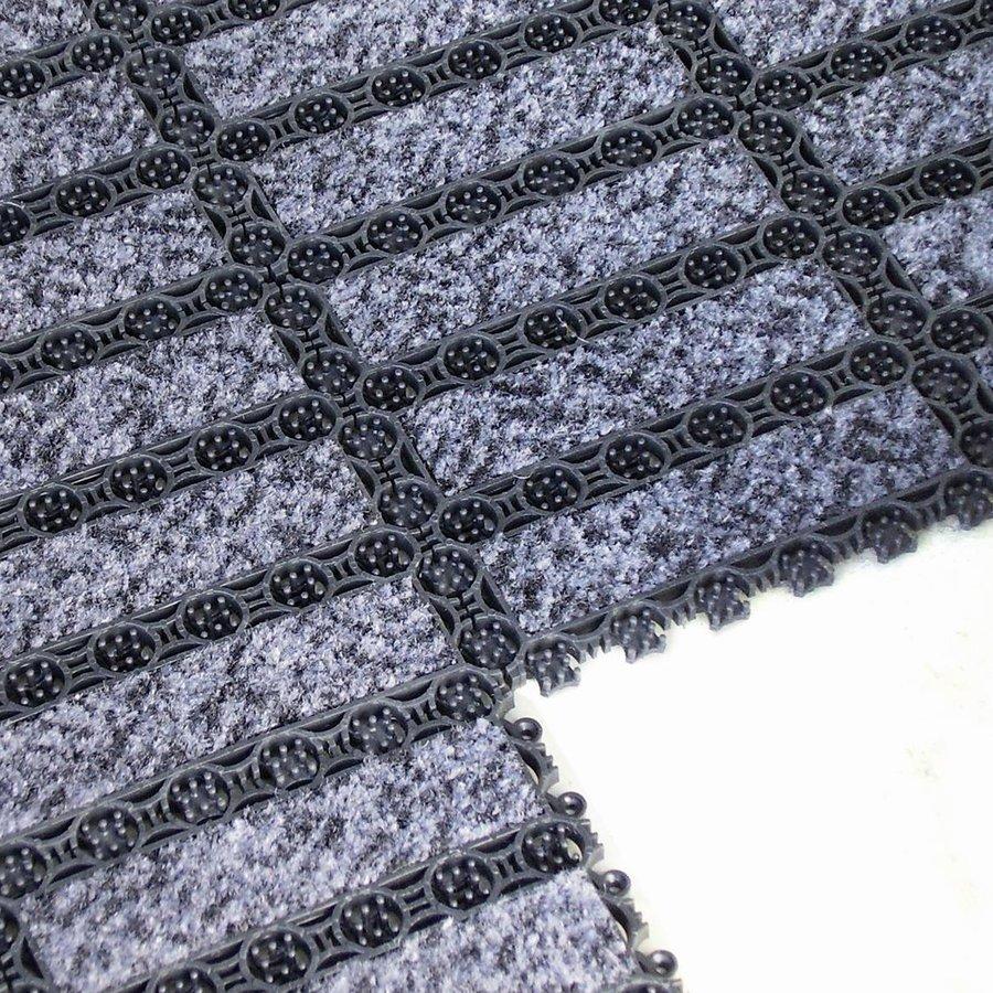Černá plastová vnitřní čistící vstupní rohož FLOMA - délka 20,5 cm, šířka 20,5 cm a výška 1,6 cm