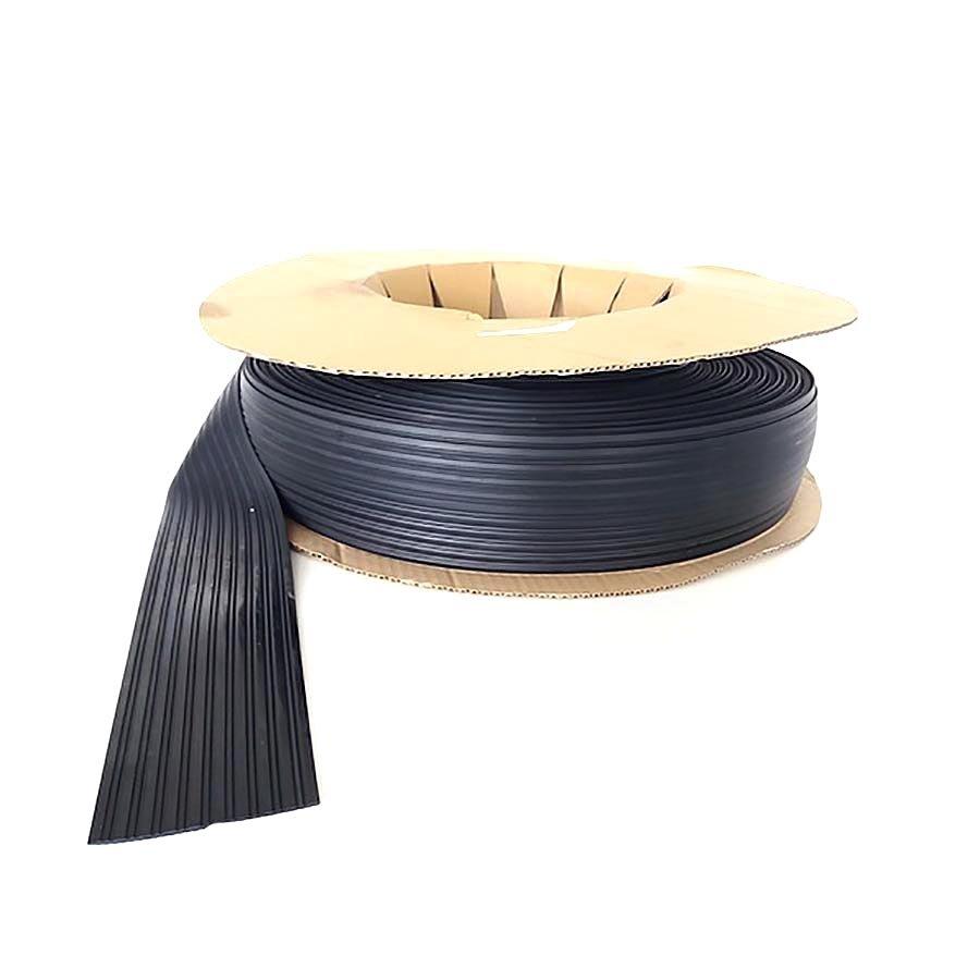 Černá pryžová protiskluzová ochranná podložka (pás) pro přepravu zboží FLOXO - šířka 10 cm a výška 3 mm