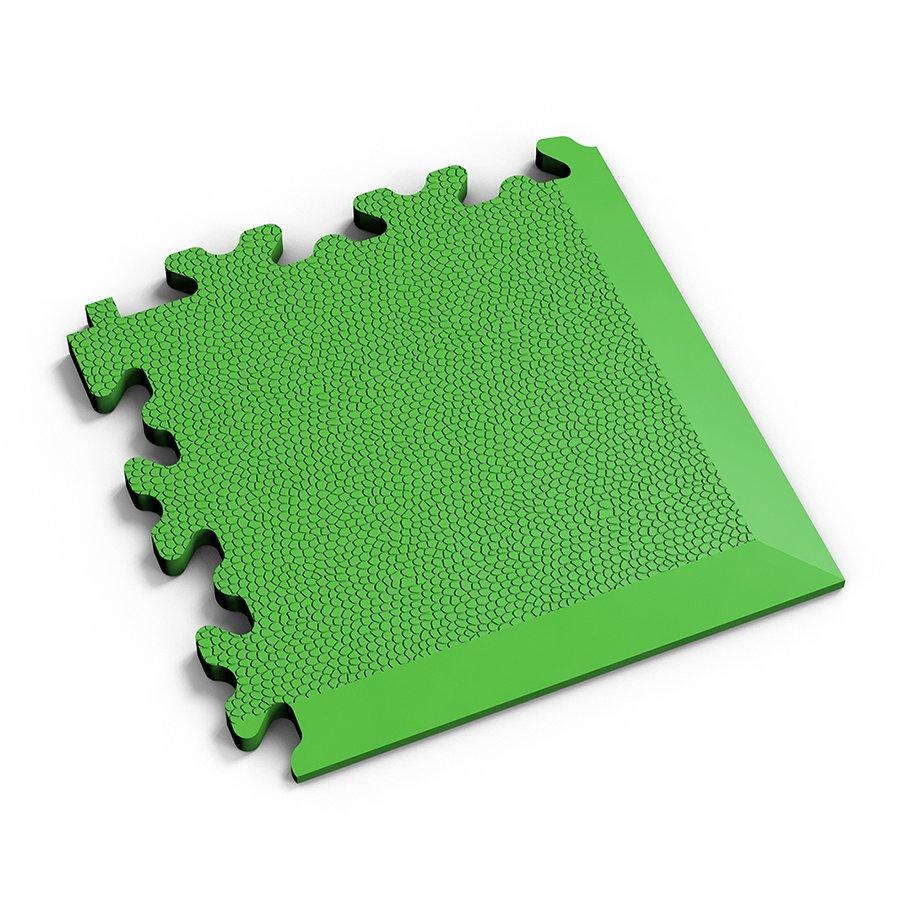 Zelený vinylový plastový rohový nájezd 2026 (kůže), Fortelock - délka 14 cm, šířka 14 cm a výška 0,7 cm
