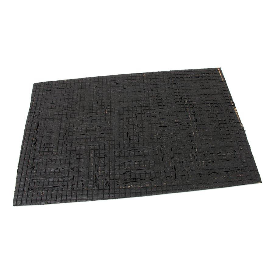 Kokosová čistící venkovní vstupní rohož Lines - Squares, FLOMAT - délka 40 cm, šířka 60 cm a výška 0,8 cm