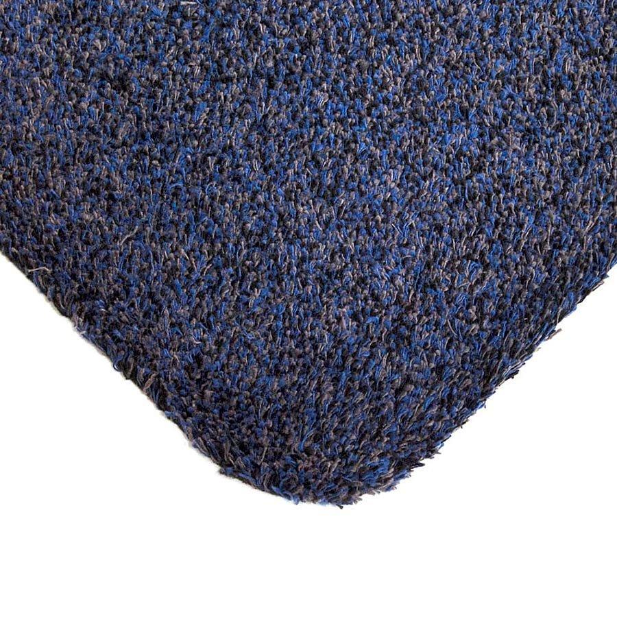 Modrá bavlněná čistící vnitřní vstupní rohož - šířka 75 cm a výška 0,4 cm