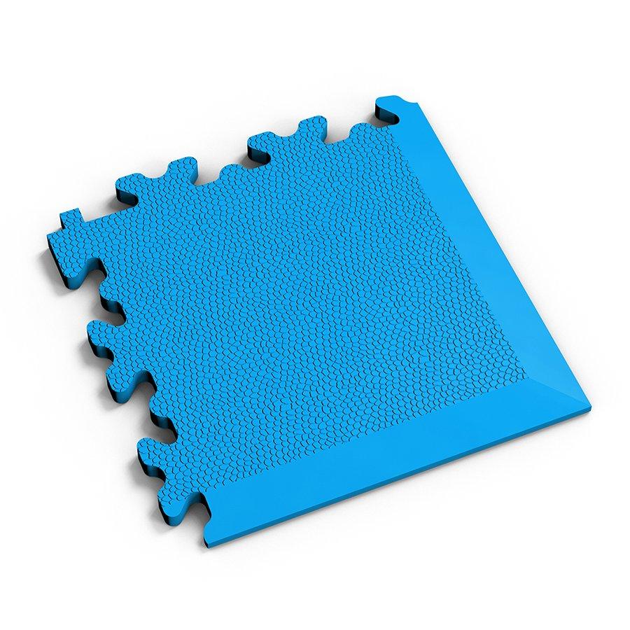 Modrý vinylový plastový rohový nájezd 2026 (kůže), Fortelock, 02 - délka 14 cm, šířka 14 cm a výška 0,7 cm