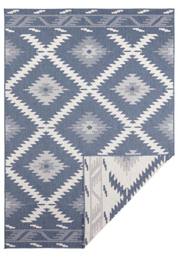Modrý oboustranný moderní koberec Twin-Supreme, Malibu