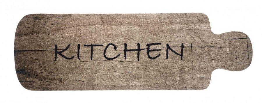 Béžová kuchyňská předložka - délka 150 cm a šířka 50 cm