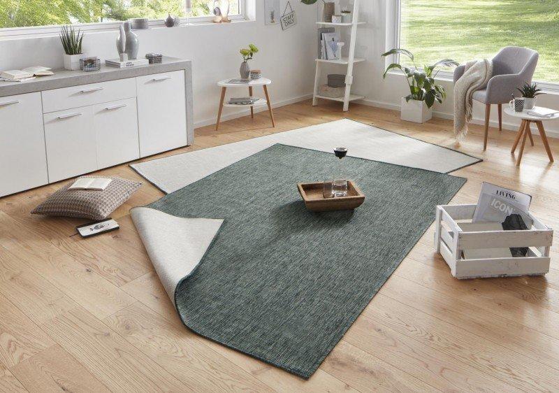 Různobarevný kusový oboustranný koberec Twin-Wendeteppiche