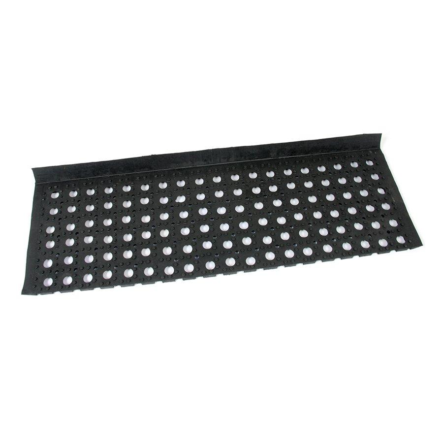 Gumová schodová protiskluzová rohož na hrubé nečistoty Honeycomb Step, FLOMAT - délka 26 cm, šířka 80 cm a výška 1,6 cm