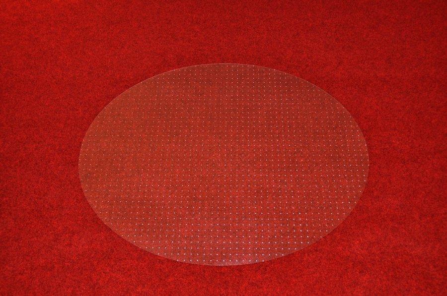 Průhledná podložka pod židli na koberec - délka 150 cm, šířka 120 cm a výška 0,2 cm
