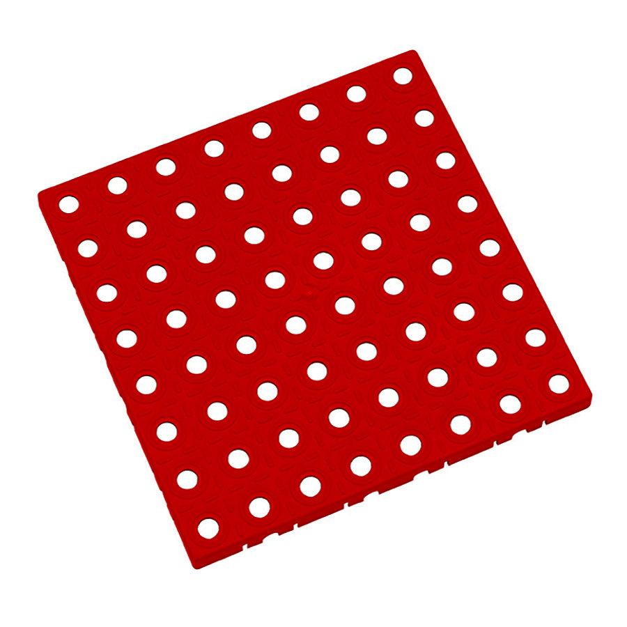 Červená plastová modulární dlaždice AvaTile - délka 25 cm, šířka 25 cm a výška 1,6 cm