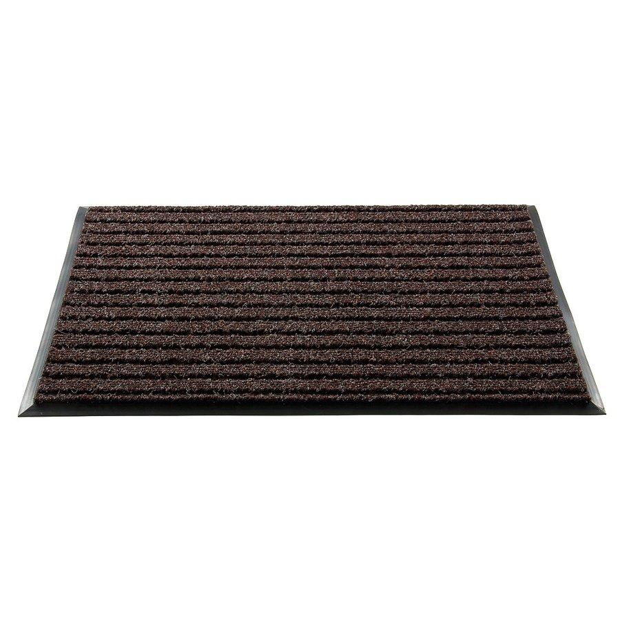 Hnědá textilní vstupní vnitřní čistící rohož - délka 100 cm, šířka 80 cm a výška 1,8 cm