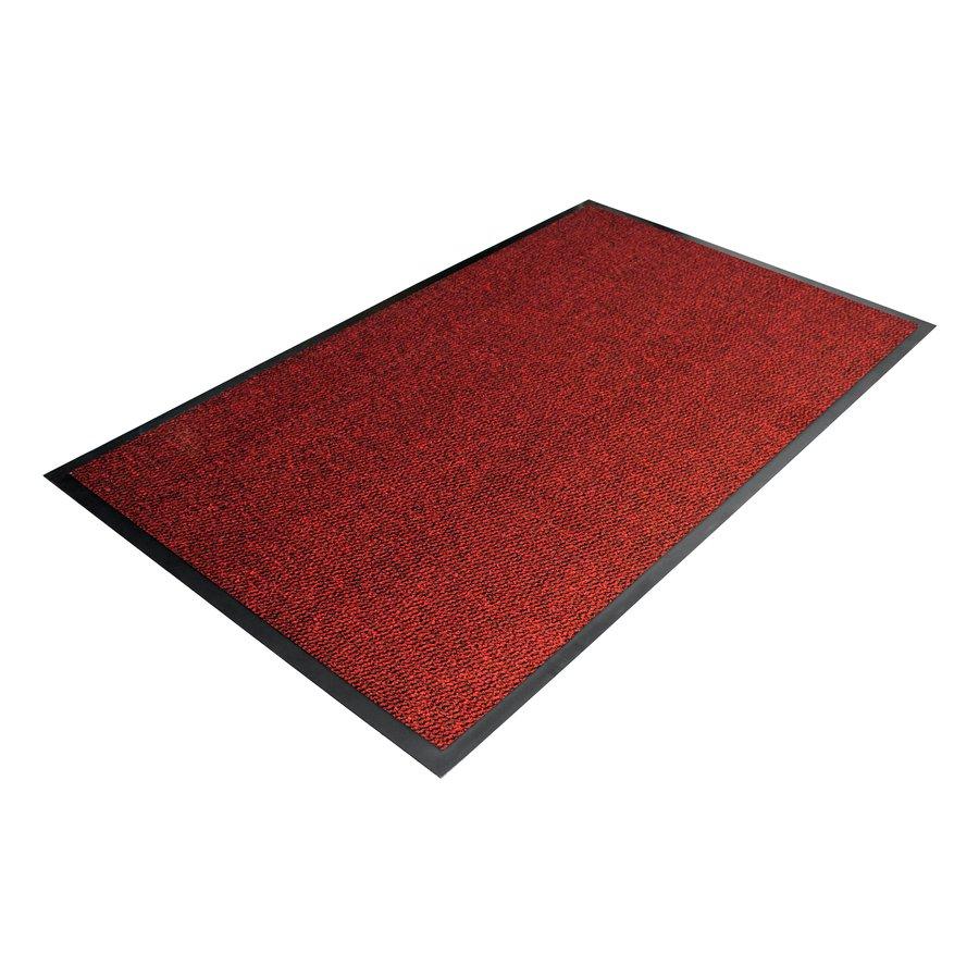 Červená textilní čistící vnitřní vstupní rohož - délka 90 cm, šířka 120 cm a výška 0,7 cm