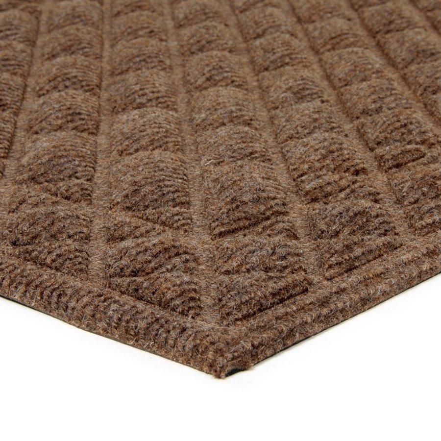 Hnědá textilní venkovní čistící vstupní rohož FLOMA Bricks - Squares - délka 45 cm, šířka 75 cm a výška 1 cm