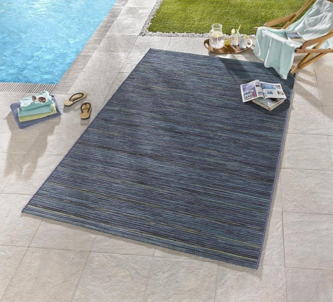 Modrý kusový koberec Lotus - délka 240 cm a šířka 80 cm