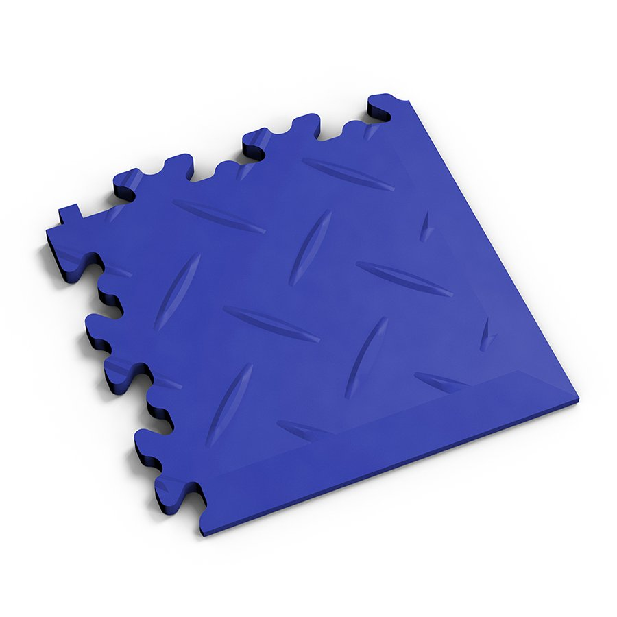 Modrý vinylový plastový rohový nájezd 2016 (diamant), Fortelock - délka 14 cm, šířka 14 cm a výška 0,7 cm