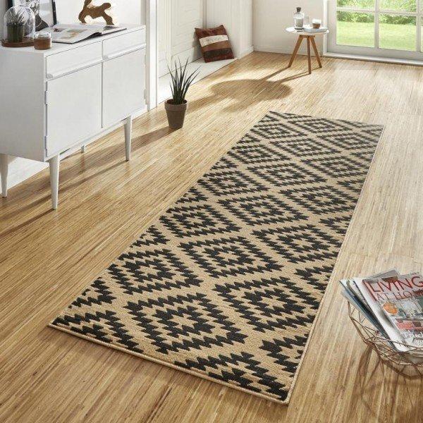 Hnědý kusový moderní koberec Basic - šířka 80 cm