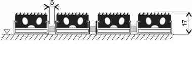 Gumová hliníková venkovní vstupní rohož Alu Standard, FLOMA - délka 100 cm, šířka 100 cm a výška 1,7 cm