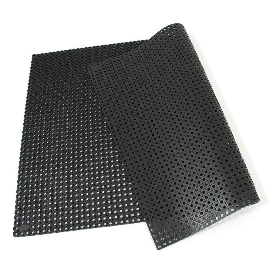 Černá gumová vstupní venkovní čistící rohož Octomat Mini - délka 100 cm, šířka 150 cm a výška 1,25 cm