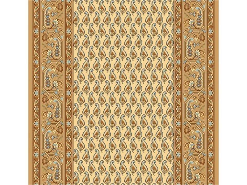 Béžový metrážový orientální koberec běhoun Malaga - šířka 120 cm