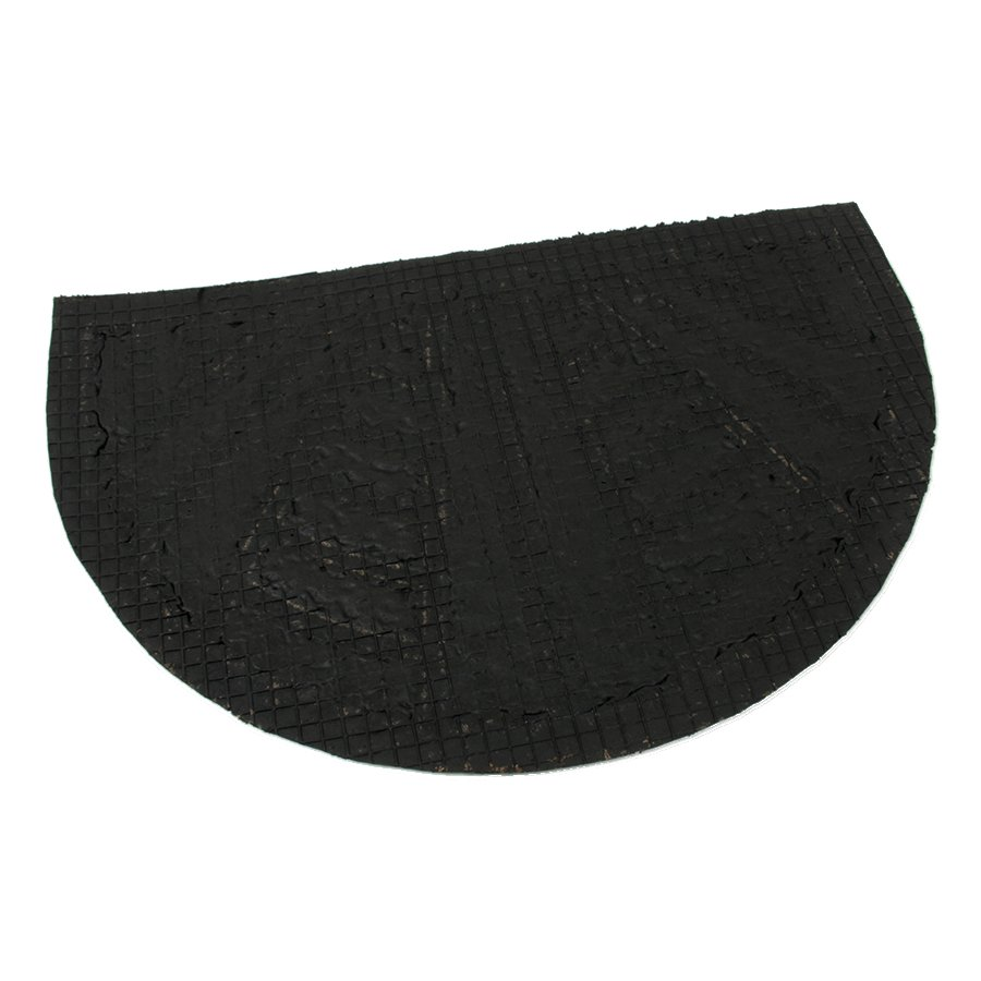 Kokosová čistící venkovní vstupní půlkruhová rohož Stripes - Lines, FLOMA - délka 40 cm, šířka 60 cm a výška 0,8 cm