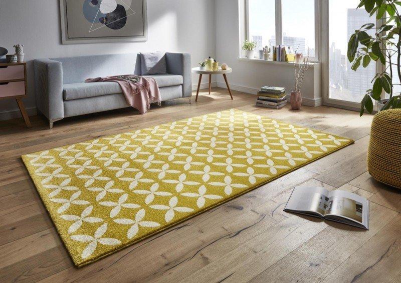 Žlutý kusový moderní koberec Tifany