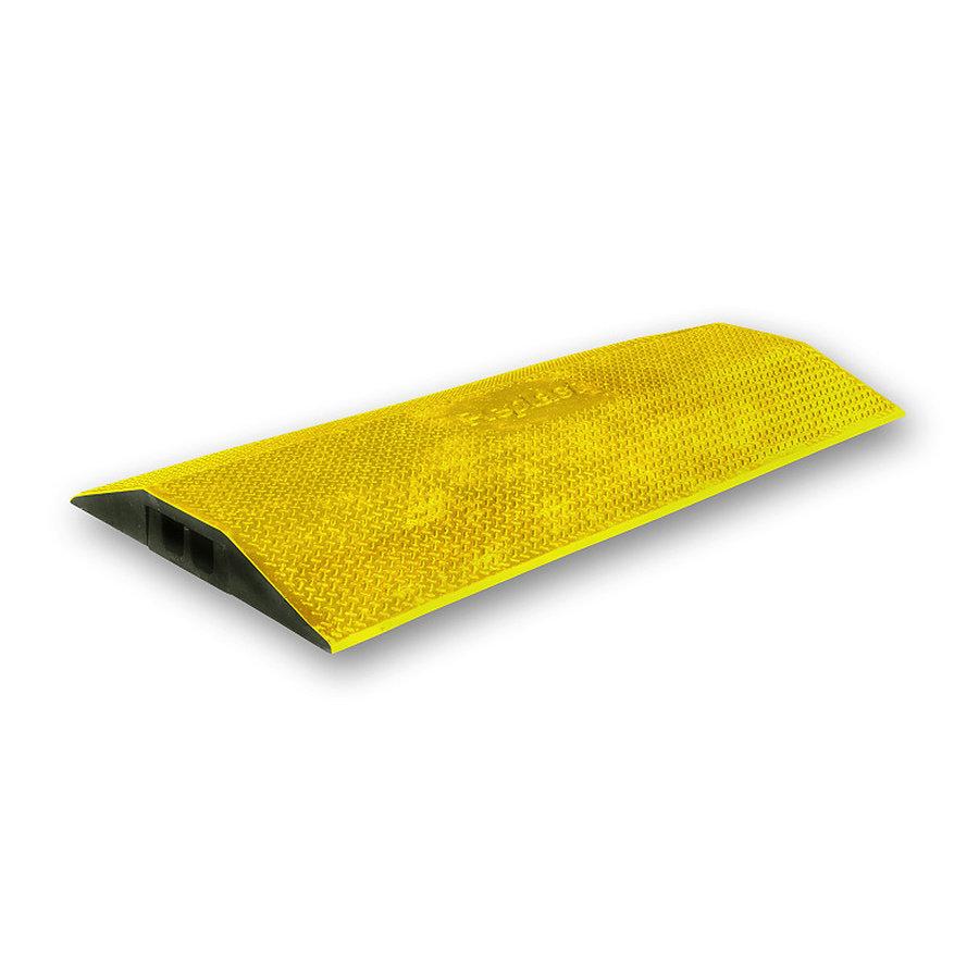 Žlutý plastový kabelový most s vložkou - délka 100 cm, šířka 49 cm a výška 7 cm
