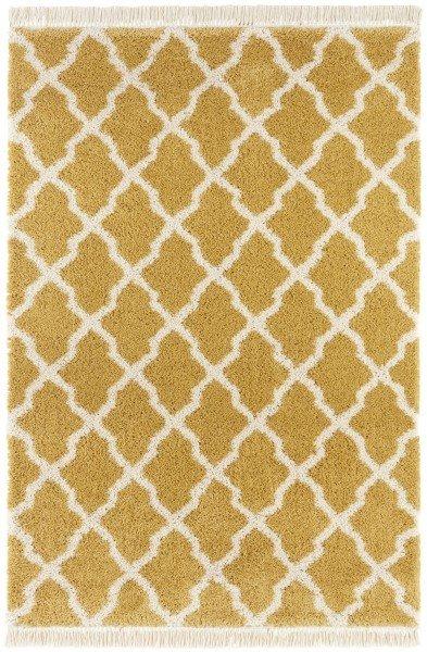 Žlutý kusový moderní koberec Desiré