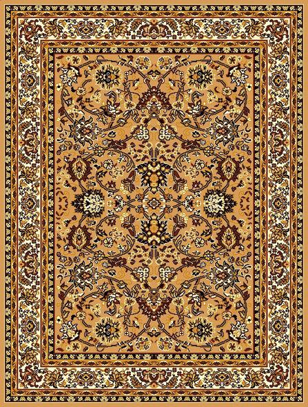 Béžový orientální kusový koberec Teheran-T - délka 60 cm a šířka 40 cm