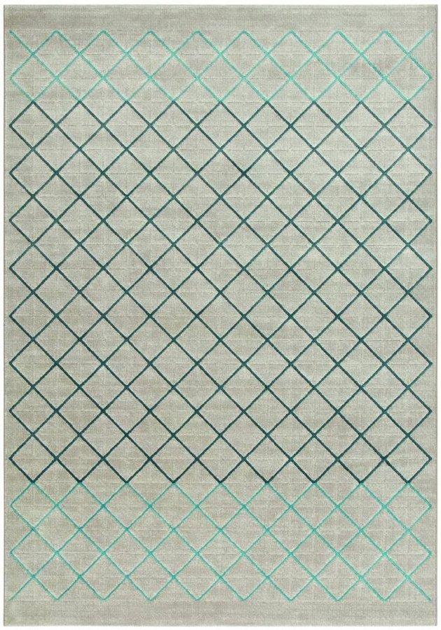 Šedý moderní kusový koberec Patina - délka 200 cm a šířka 135 cm