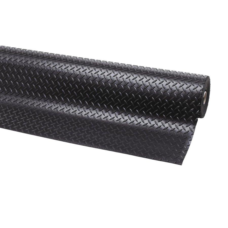 Černá olejivzdorná protiskluzová průmyslová rohož - výška 0,47 cm