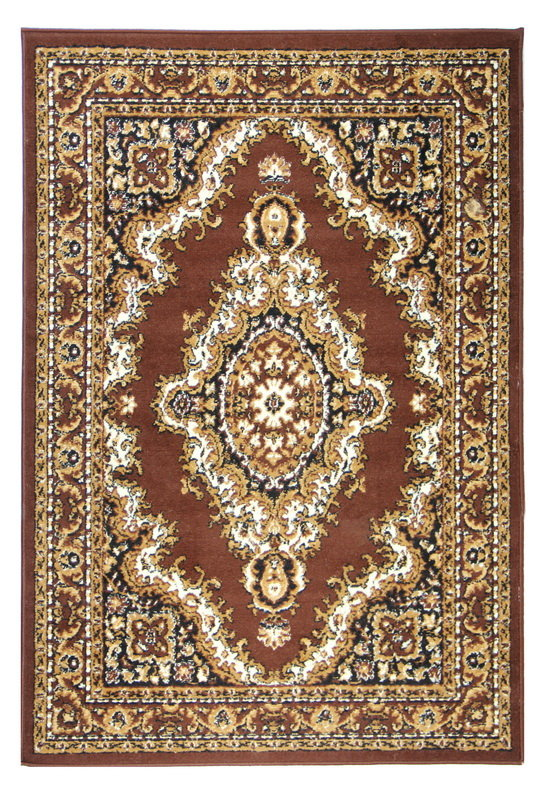 Hnědý kusový orientální koberec Teheran-T - délka 60 cm a šířka 40 cm