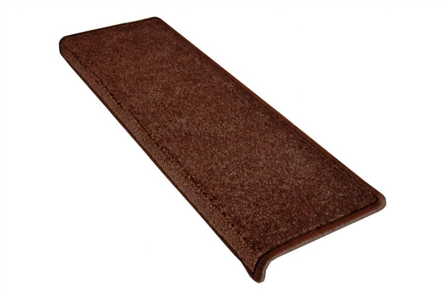 Hnědý kobercový nášlap na schody Eton - délka 20 cm a šířka 65 cm
