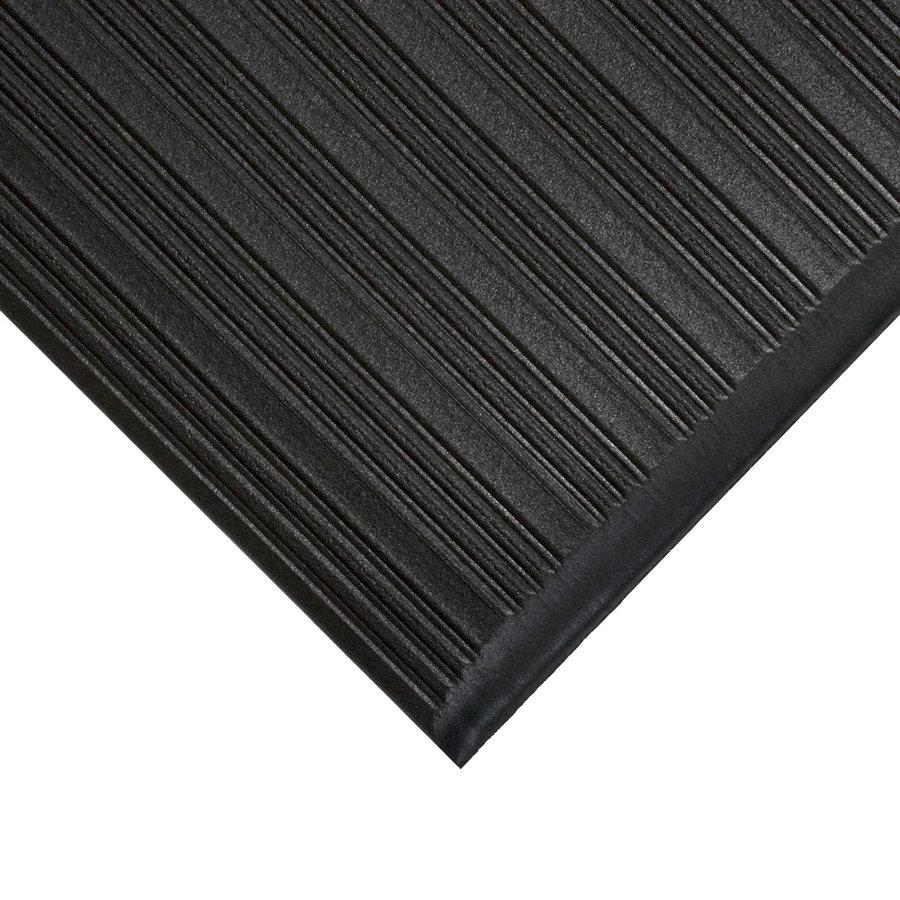 Černá průmyslová protiúnavová protiskluzová metrážová pěnová rohož - šířka 120 cm a výška 0,9 cm