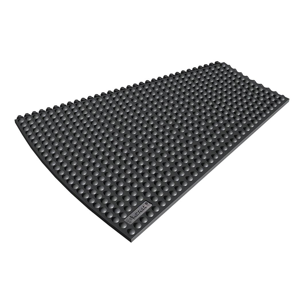 Černá gumová rohož (okraj) Skywalker HD o-Curve ESD Nitrile FR - výška 1,3 cm