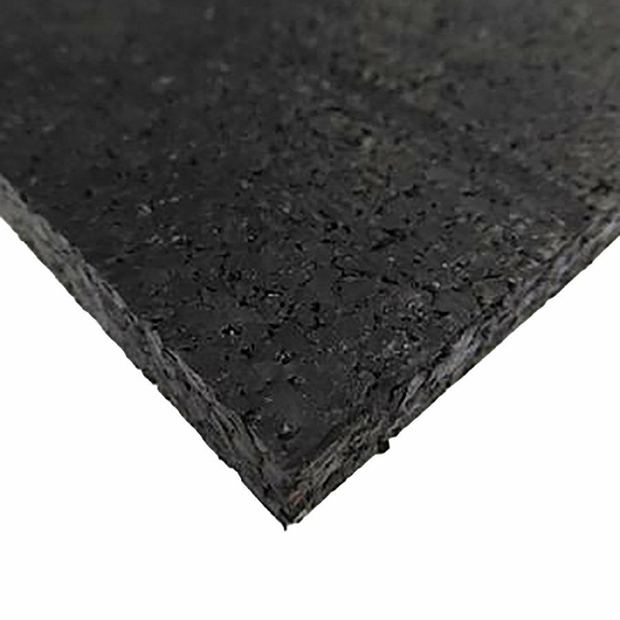 Černá pryžová fitness formátovaná deska FLOMA SF1050 - délka 198 cm, šířka 98 cm a výška 0,8 cm