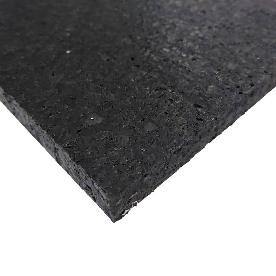 Černá pryžová deska SF1100, FLOMA - délka 198 cm, šířka 98 cm a výška 0,8 cm