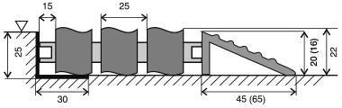 Gumová hliníková venkovní vstupní rohož FLOMA Alu Wave - šířka 100 cm a výška 2,2 cm